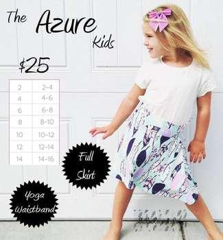 Kids Azure (Sizing Chart)