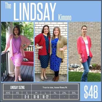 Lindsay Kimono (Sizing Chart)