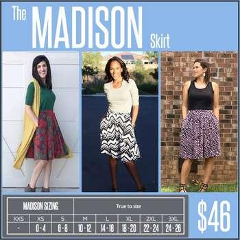 Madison (Sizing Chart)