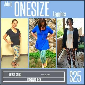One Size Leggings (Sizing Chart)