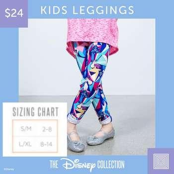 16e029bf69fa92 LuLaRoe Collection for Disney Kids Leggings