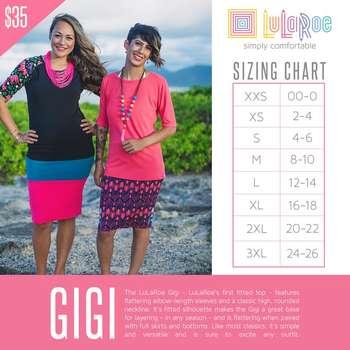 Gigi (Sizing Chart)