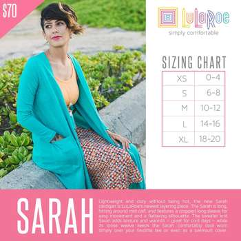 Sarah Cardigan (Sizing Chart)