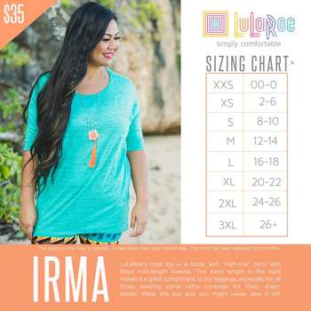 Irma (Sizing Chart)