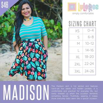 Madison (Sizing Chart)